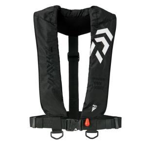 フローティングベスト ダイワ DF-2608 インフレータブルライフジャケット(肩掛けタイプ手動・自動膨脹式) フリー ブラック|naturum-outdoor