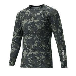 IN-061Q サンプロテクション ロングスリーブシャツ L ブラックウィードカモ