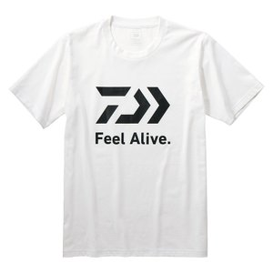 DE-83009 ショートスリーブ FEEL Alive Tシャツ L ホワイト