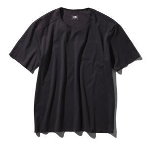 アウトドアシャツ ザ・ノースフェイス TECH LOUNGE S/S TEE(テック ラウンジ ショット Tシャツ) L K(ブラック)|naturum-outdoor