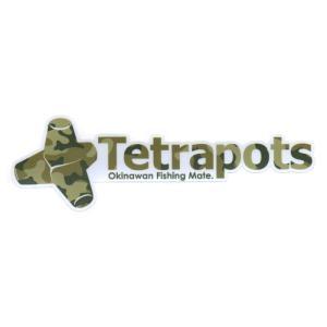 テトラポッツ カットロゴステッカー M 迷彩