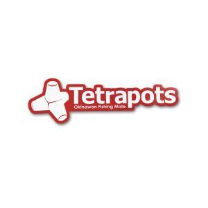 テトラポッツ Frame Logo Sticker レッド