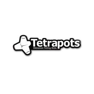 テトラポッツ Frame Logo Sticker ブラック