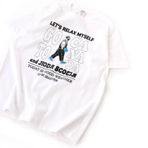 アウトドアシャツ gym master RELAX MYSELF TEE L 01(ホワイト)|naturum-outdoor