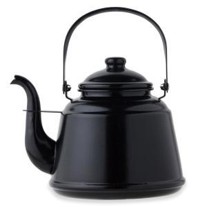 キッチンツール Fireside レトロホーローケトル 2.3L ブラック