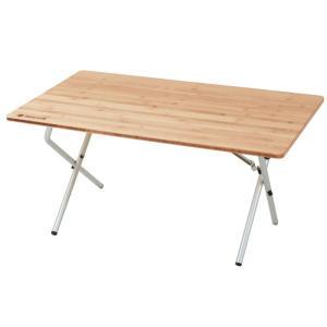 アウトドアテーブル スノーピーク ワンアクション ロー テーブル 竹