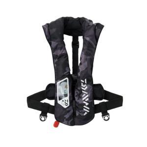 フローティングベスト ダイワ DF-2021 ウォッシャブルライフジャケット(肩掛けタイプ自動・手動膨脹式)Aタイプ フリー ブラックカモ ナチュラム PayPayモール店