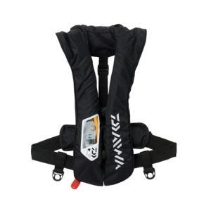 フローティングベスト ダイワ DF-2021 ウォッシャブルライフジャケット(肩掛けタイプ自動・手動膨脹式)Aタイプ フリー ブラック ナチュラム PayPayモール店