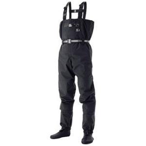 防水透湿ウェーダー シマノ XEFO・ドライシールド・ストッキングウェーダー 3L ブラック|naturum-outdoor