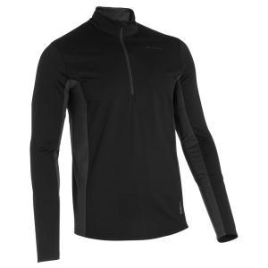 シャツ(メンズ) QUECHUA TECHWINTER 100 メンズ ハイキング 長袖Tシャツ S BLACK