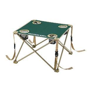 アウトドアテーブル キャプテンスタッグ CS コンパクトテーブル ドリンクホルダー付き 折りたたみ収...