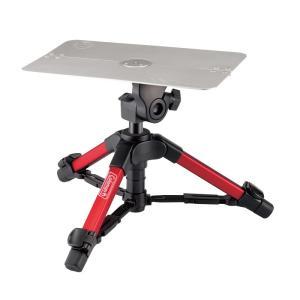 光学機器 ベルボン コールマンミニテーブル三脚 CV-2 レッド|naturum-outdoor