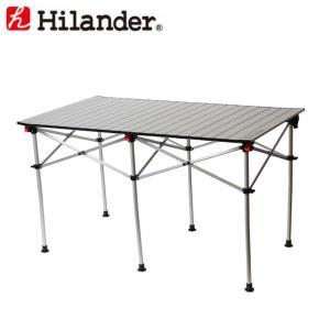 アウトドアテーブル ハイランダー アルミロールテーブル 124×70cm|naturum-outdoor