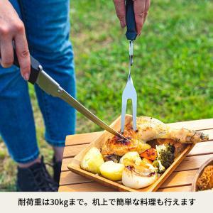 アウトドアテーブル ハイランダー ウッドロールトップテーブル2 90|naturum-outdoor|11