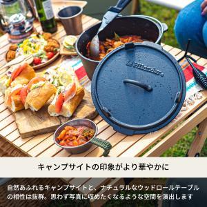 アウトドアテーブル ハイランダー ウッドロールトップテーブル2 90|naturum-outdoor|03