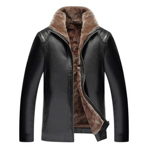 ジャケット メンズ ビジネスジャケット 紳士 PU革ジャケット メンズ 革ジャン 立ち襟 裏起毛 保温防寒 大きいサイズ|natyunal-shop