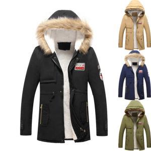 ミリタリージャケット 中綿コート メンズ ボアジャケット ロング モッズコート 裏ボア 裏フリース 厚手 大きいサイズ あったか 防風 防寒着|natyunal-shop