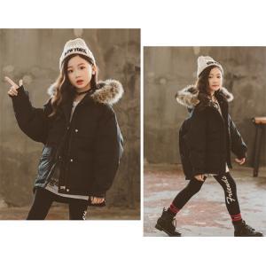 子供服 ダウンコート コート 中綿ジャケット 防寒 保温 アウターウエア 女の子 フード付き可愛い|natyunal-shop