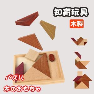 知育玩具 木製 パズル タングラム 木のおもちゃ 知育おもちゃ 3才 4才 男の子 女の子 誕生日 プレゼント|natyunal-shop
