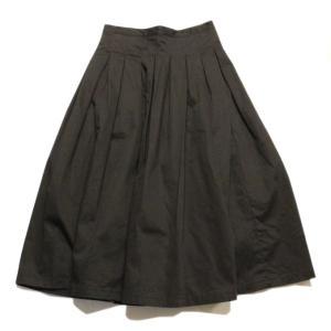 GRANDMA MAMA DAUGHTER(グランマ ママ ドーター)CHINO PLEATED LONG SKIRT GK001 NAVY ネイビー スカート naval-sendai