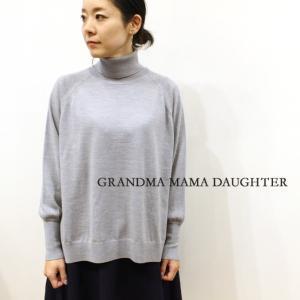 GRANDMA MAMA DAUGHTER(グランマ ママ ドーター)タートルネックセーター GN731521 2color naval-sendai