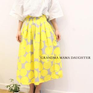 GRANDMA MAMA DAUGHTER(グランマ ママ ドーター)ドットタックスカート GK811051 naval-sendai
