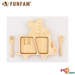 FUNFAM ファンファン 竹食器 ジャッキーファンシーカーセット KUMA2019-001
