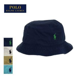 ラルフローレン ポロ POLO ポニーワンポイント バケット ハット 帽子/ネイビー/カーキ/ホワイ...