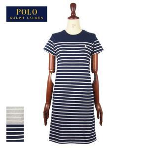 8ede1f94b5ac6 ラルフローレン ポロ レディース ポニーワンポイント ボーダー クルーネック Tシャツ ワンピース POLO Ralph Lauren Dress  メール便可