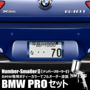自動車塗装の職人さんが、 ライセンスフレーム をBMWのボディーカラーでオーダーペイント!【ナンバー・スモーラーII |BMW PROセット】|naviokun