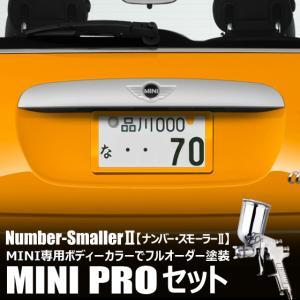 自動車塗装の職人さんが、 ライセンスフレーム をミニのボディーカラーでオーダーペイント!【ナンバースモーラーII |MINI PROセット】|naviokun