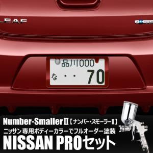 自動車塗装の職人さんが、 ナンバーフレーム をニッサンのボディーカラーでオーダーペイント!【ナンバー・スモーラーII |NISSAN PROセット】|naviokun