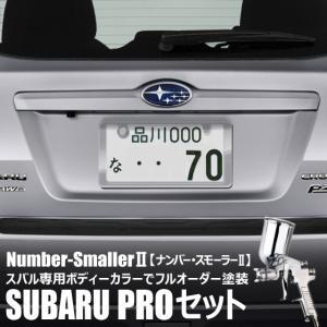 自動車塗装の職人さんが、 ナンバーフレーム をスバルのボディーカラーでオーダーペイント!【ナンバー・スモーラーII |SUBARU PROセット】|naviokun