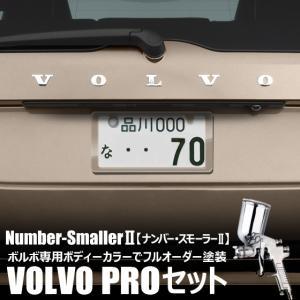 自動車塗装の職人さんが、 ライセンスフレーム をボルボのボディーカラーでオーダーペイント!【ナンバー・スモーラーII |VOLVO PROセット】|naviokun