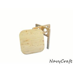 折りたたみ木製テーブル 組み立て木製ローテーブル -無塗装- NavyCraft ネイビークラフト キャンプ navycraft