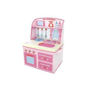 ままごと収納ボックス キッチン イチゴ 14814|nayami-kaiketu