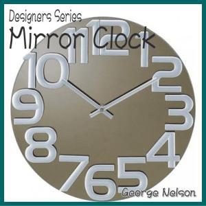 ジョージネルソン(George Nelson)ミラークロック(Mirror clock)グレー GN412GY リプロダクト nayami-kaiketu