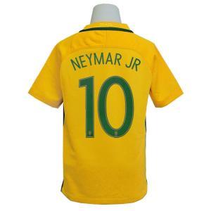 (ナイキ) NIKE/16/17ブラジル代表/ホーム/半袖/ネイマール/ジュニア用/724685-703|nbs