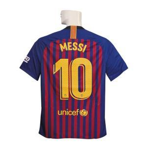 18-19年バルセロナ/チャンピオンズリーグ/ホームの半袖ユニフォームメッシです。