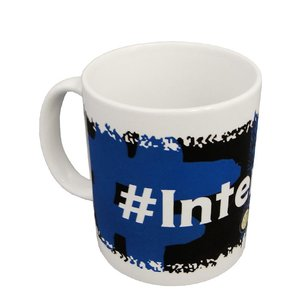 インテルのオフィシャルマグカップ ブラックXブルー。
