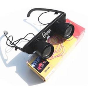 オペラグラス メガネ型 双眼鏡 3倍 コンサート スポーツ観戦に