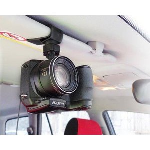 ドライブレコーダー ホルダー サンバイザーに挟むだけ カメラにも|ndhci2014