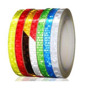 リフレクターシール 反射シール カラーシール テープ ステッカー 幅1cm×8m ポイント消費にも