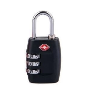 TSAロック 南京錠 3桁ダイヤル 旅行用 米国運輸保安局(TSA)承認 黒|ndhci2014