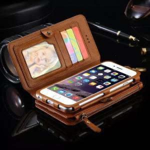 スマホ ケース カバー iphone6/6s plus 本革調 手帳型 お財布ケース カード×17|ndhci2014