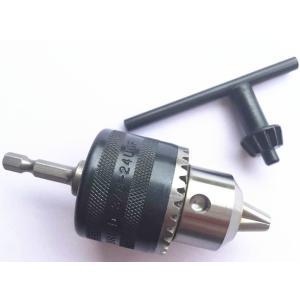 ドリルチャックアダプター 1.5-10mm 六角軸 インパクトドライバーで丸軸ドリルが利用可能 アウ...