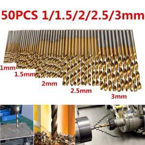 ◆HSS鋼チタンコート  ◆Φ1、1.5、2、2.5、3mm 各10本 50本セット ◆軸形状:丸軸...