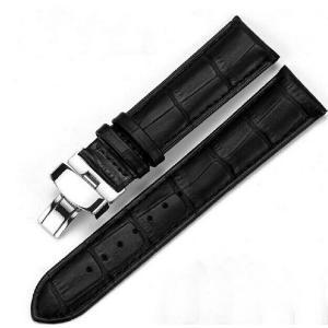 腕時計 交換バンド ベルト 本革 Dバックル 14mm 16mm 18mm 20mm 22mm 24mm 工具付き(黒)|ndhci2014