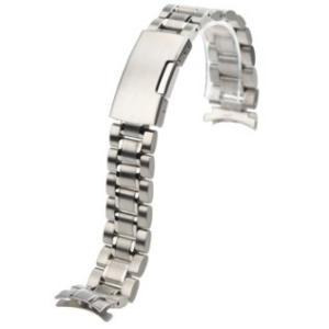腕時計 交換バンド ベルト ステンレス無垢 3連 16mm 18mm 20mm 22mm 24mm 弓カン プッシュ式 工具付|ndhci2014