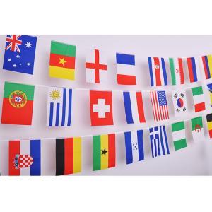 万国旗 ランダム 100連 25m セット パーティー 運動会 国際交流 イベントに 世界の国旗100枚|ndhci2014